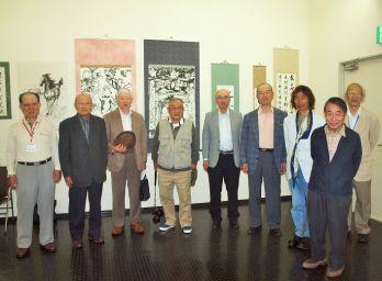 藤沢三田会アート展会の激励訪問